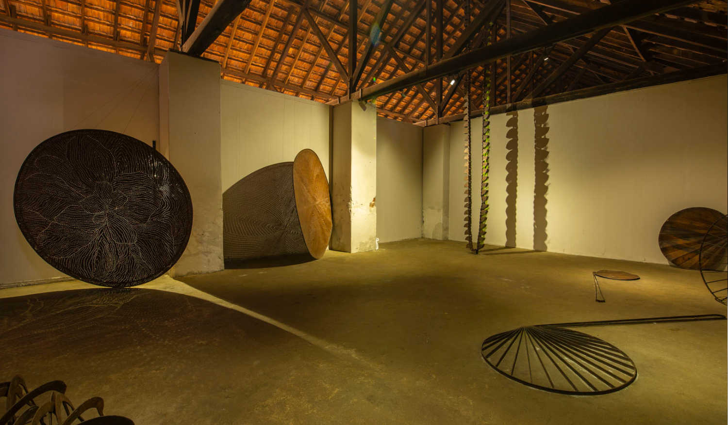 Sculptures by artist Shambhavi Singh on display at Aspinwall House, Fort Kochi